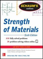 Schaum's Outline of Strength of Materials, 6th Edition 6th Edition 9780071830782 0071830782