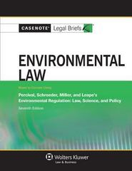 Environmental Law 7th Edition 9781454824671 1454824670