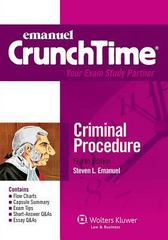 Crunchtime - Criminal Procedure 8th Edition 9781454824886 1454824883
