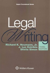 Legal Writing 3rd Edition 9781454830979 1454830972