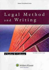 Legal Method and Writing 7th Edition 9781454830993 1454830999
