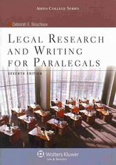 Legal Research and Writing for Paralegals 7th Edition 9781454831327 1454831324