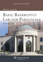 Basic Bankruptcy Law for Paralegals 9th Edition 9781454831334 1454831332