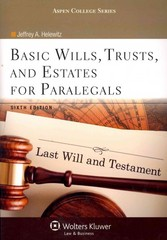 Basic Wills, Trusts, and Estates for Paralegals 6th Edition 9781454831358 1454831359