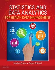Statistics & Data Analytics for Health Data Management 1st Edition 9780323292214 0323292216