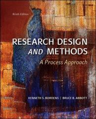 Research Design and Methods 9th Edition 9780078035456 0078035457