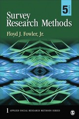 Survey Research Methods 5th Edition 9781452259000 1452259003