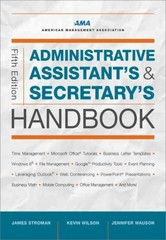Administrative Assistant's and Secretary's Handbook 5th Edition 9780814433522 0814433529