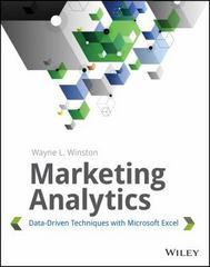 Marketing Analytics 1st Edition 9781118373439 111837343X