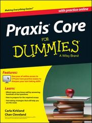 Praxis Core For Dummies, with Online Practice Tests 1st Edition 9781118532805 1118532805