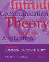Introducing Communication Theory 5th Edition 9780073534282 0073534285