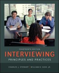 Interviewing 14th Edition 9780078036941 0078036941