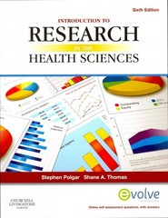 Introduction to Research in the Health Sciences 6th Edition 9780702041945 0702041947