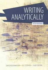 Writing Analytically with Readings 3rd Edition 9781285436470 1285436474