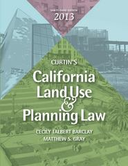 California Land Use and Planning Law 33th Edition 9781938166037 1938166035