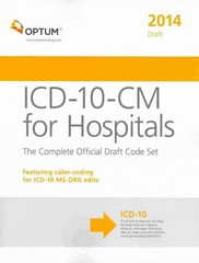 ICD-10-CM for Hospitals: Draft 1st Edition 9781622540693 1622540697