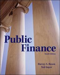 Public Finance 10th Edition 9780078021688 0078021685