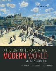 A History of Europe in the Modern World 11th Edition 9780077599584 0077599586