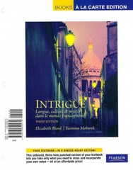 Intrigue: langue, culture et mystere dans le monde francophone, Books a la Carte Plus MyFrenchLab (multi semester access) -- Access Card Package 3rd Edition 9780205994465 0205994466