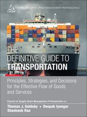 The Definitive Guide to Transportation 1st Edition 9780133449099 0133449092