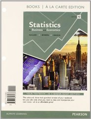 Statistics for Business and Economics, Books a la Carte Edition Plus NEW MyStatLab with Pearson eText -- Access Card Package 12th Edition 9780321945310 032194531X