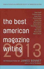 Best American Magazine Writing 2013 1st Edition 9780231162258 0231162251