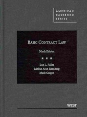 Basic Contract Law 9th Edition 9780314200358 0314200355