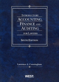 Cunningham's Introductory Accounting, Finance and Auditing for Lawyers, 6th 2nd Edition 9780314280459 0314280456