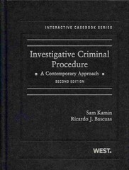 Kamin and Bascuas' Investigative Criminal Procedure 2nd Edition 9780314285461 0314285466