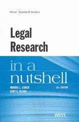 Legal Research 11th Edition 9780314286659 0314286659