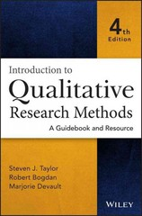 Introduction to Qualitative Research Methods 4th Edition 9781118767306 1118767306