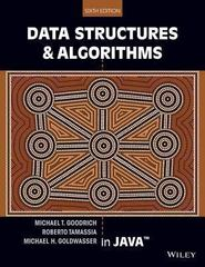 Data Structures and Algorithms in Java 6th Edition 9781118771334 1118771338