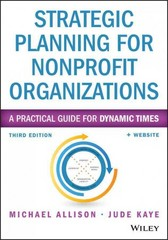 Strategic Planning for Nonprofit Organizations 3rd Edition 9781118768143 1118768140