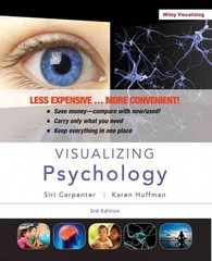 Visualizing Psychology, Third Edition Binder Ready Version 3rd Edition 9781118449783 1118449789