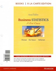 Business Statistics 2nd Edition 9780321946331 0321946332