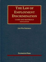Law of Employment Discrimination 9th Edition 9781609302788 1609302788