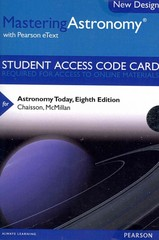 MasteringAstronomy with Pearson eText -- Standalone Access Card -- for Astronomy Today 8th Edition 9780321910189 0321910184