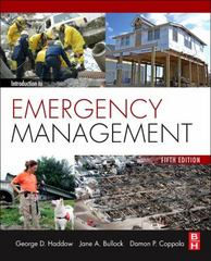 Introduction to Emergency Management 5th Edition 9780124077843 0124077846