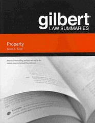 Gilbert Law Summaries on Property 18th Edition 9780314286062 0314286063