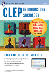 CLEP Introductory Sociology Book + Online 2nd Edition 9780738683768 0738683760