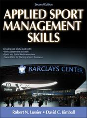 Applied Sport Management Skills with Web Study Guide 2nd Edition 9781450434157 1450434150