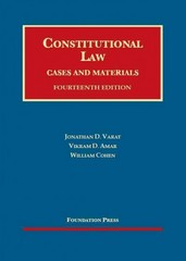 Constitutional Law, Cases and Materials 14th Edition 9781609302559 1609302559