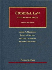 Criminal Law - Cases and Comments 9th Edition 9781609302740 1609302745