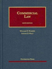 Commercial Law 9th Edition 9781609303396 1609303393