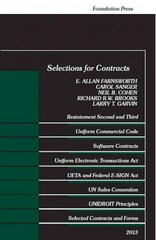 Selections for Contracts 2013 2013th Edition 9781609303617 160930361X