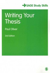 Writing Your Thesis 3rd Edition 9781446267851 1446267857