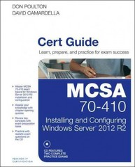 MCSA 70-410 Cert Guide R2 1st Edition 9780789748805 0789748800