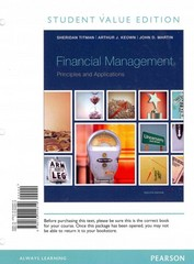 Financial Management 12th Edition 9780133449310 0133449319