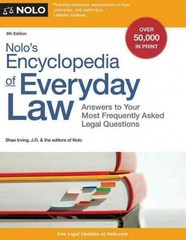 Nolo's Encyclopedia of Everyday Law 9th Edition 9781413319972 1413319971