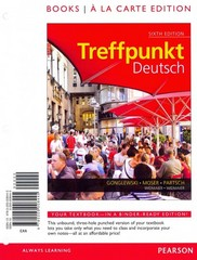 Treffpunkt Deutsch: Grundstufe, Books a la Carte Plus MyGermanLab with eText with eTextLab (multi semester access) -- Access Card Package 6th Edition 9780205995004 0205995004